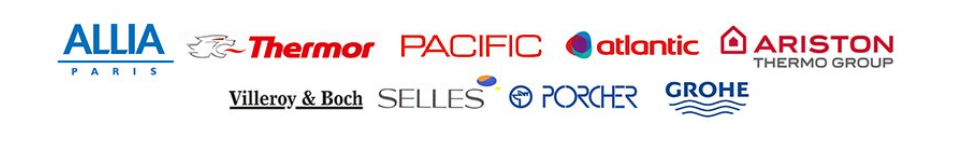 les marques partenaires de notre entreprise de plomberie a VILLEBEON